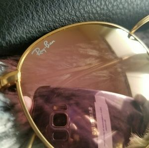 Ray-Ban Accessories - ROSE GOLD ROUND RAY-BAN 100% AUTHENTIC